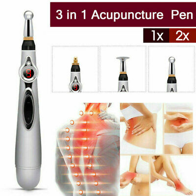 2X Electronic Pulse Pen Analgesia Body Pain Relief Acupuncture Point Massage Pen