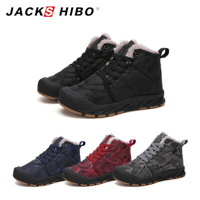 Boys Girls Winter Snow Boots Fur Lined Warm Sneakers Outdoor Walking Shoes