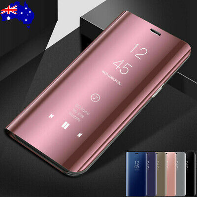 For OPPO Reno Z 10X Zoom Luxury Smart Mirror View Flip Case Stand Clear Cover AU