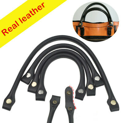 1 Pair REAL Leather Handle Shoulder Replacement Strap Purse Bag Handbag Handles