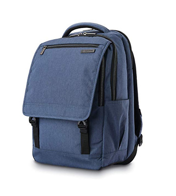 Samsonite Modern Utility Paracycle Backpack Laptop Large Pockets Blue Chambray