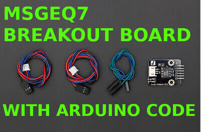 MSGEQ7 7-BAND AUDIO Equalizer Breakout Board 0Deg Header