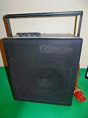 COOMBER PUBLIC ADDRESS System Model 2100 PA Speaker Portable with Handle