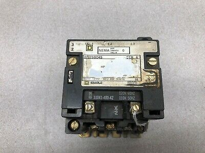 Used Square D Size 0 120 Vac Coil 3 Pole 600 Vac Max Contactor 8702Sbo4S Ser A