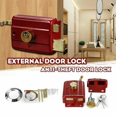 Heavy Duty Lock Security Door Lock Dead Bolt Lock with 3 Keys for Front Door