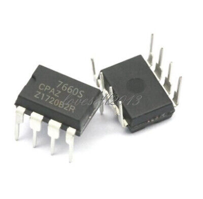 10PCS ICL7660SCPAZ ICL7660S CMOS Voltage Converter IC INTERSIL DIP-8