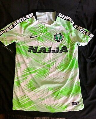 finest selection ed205 0fc4f NIKE 2018 NIGERIA World Cup Home Stadium Mens Soccer Jersey ...