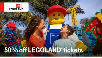 Legoland code for 50% off tickets up to 6 ppl exp 12/31/19