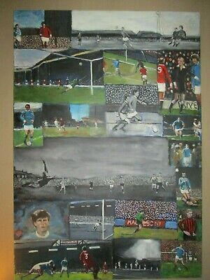 Manchester City MCFC Maine Road Oil Painting Compilation..Colin Bell, Tony Book