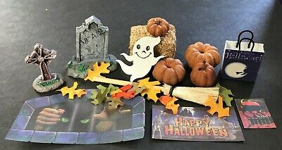 Big Lot of Halloween and Fall Dollhouse Miniatures - Decorate the Dollhouse!
