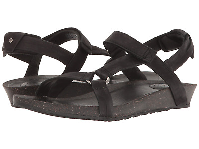 Teva Women's W Ysidro Universal Sandals Lux Leather-wrapped Footbed Black Size 9