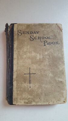 Antique 1896 Sunday School Book - Evengelical Luthern Congregations Hymnal