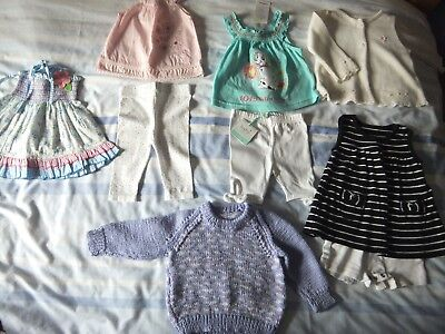 Baby girls 0-3 bundle White Blue Pink Purple By Disney M&CO Ladybird George