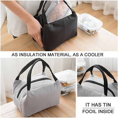 Childrens Kids Lunch Cool Bags Insulated Picnic School Lunchbox Adult Thermal
