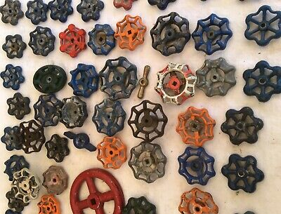 90 Vintage Valve Handles Water Faucet Knobs STEAMPUNK Industrial Lot Ninety