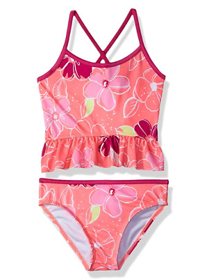 Gymboree Little Girls' 2-Piece Tankini Floral Print XS 4