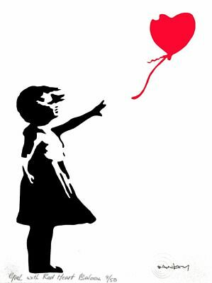 BANKSY - LIMITED EDITION #7 of 50 * GIRL WITH BALLOON *