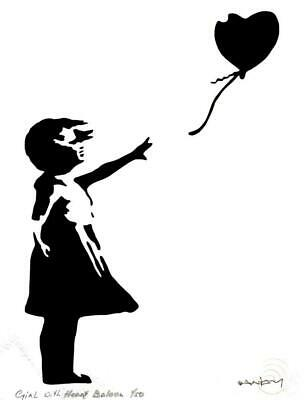 BANKSY - LIMITED EDITION #1 of 50 * GIRL WITH BALLOON *