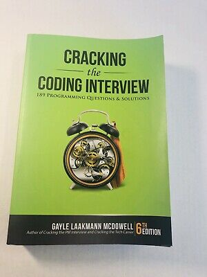Cracking the Coding Interview, 189 programming questions & solutions 6th 6e 2015