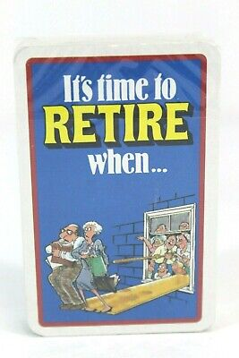 It's Time to Retire When ... Playing Card Deck Brand New Sealed Cards