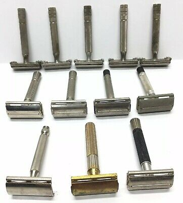 Lot of 12 Vintage Gillette Safety Razor