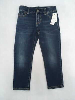 New With Tags Boys Gap Kids Slim Denim Blue Jeans Size 4 Regular