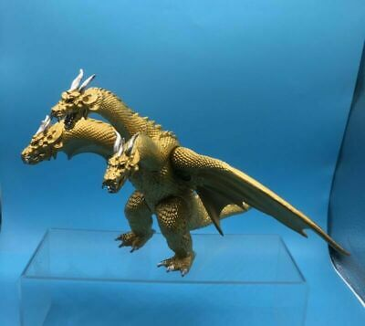 "10"" Godzilla Gidora King of the Monster Ghidorah 3 Heads Golden Dragon Figure"