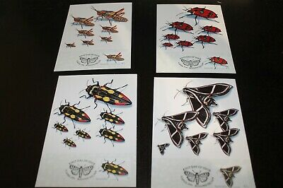 Mint 1991 Australian Insects Stamp Maxi Card Set Of 4 Cards