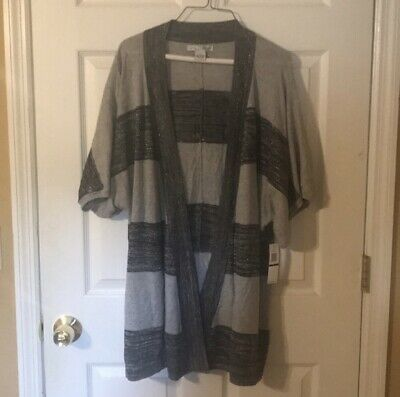 RXB Open Front Cardigan Kimono Stretchy Green Turquoise Cover Up NWT$79