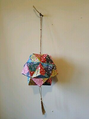 One Handmade Paper Origami Modular Icosahedron Ornament
