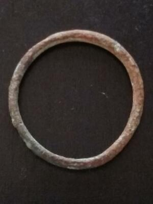 22mm Authentic Ancient CELTIC Bronze Ring Money ~600 BC #34