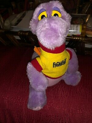 VIntage DISNEYLAND DISNEY WORLD Parks FIGMENT DRAGON PLUSH Toy  7 Inch