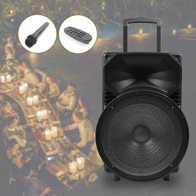 Bluetooth Portable PA Speaker w/ Mic Input and Rechargeable Battery Todo USB SD