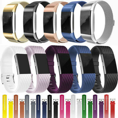 Fitbit Charge2 Strap Silicone/Milanese Bracelet Band Replacement Wristband Watch