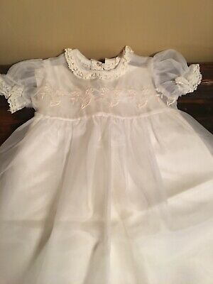 antique Vintage baby christening gown 2 Pieces