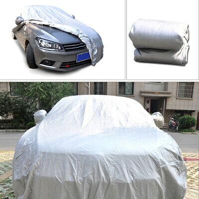 Gray Full Car Cover Breathable In Out Door Dust UV Rain Snow For SUV L Van Truck
