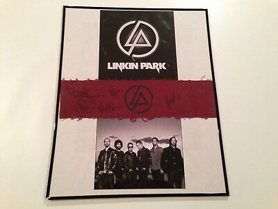 Linkin Park Signed Arm Band Autograph All 6 Chester Bennington Mike Shinoda