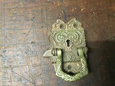 Antique Cast Brass Door/Cupboard Lift Latch Ornate Victorian Door latch