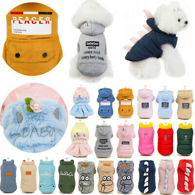 Colorful Sweet Cool Dog Pet Puppy Winter Warm Cotton Coat Jacket Apparel Sweater