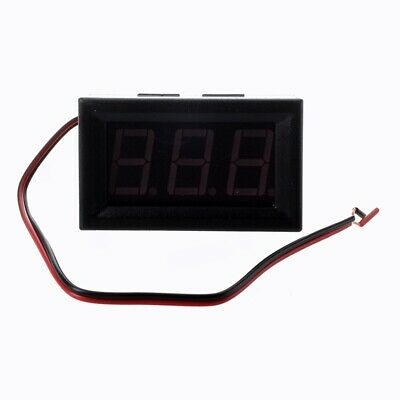 Mini Panelmeter Voltage Voltmeter DC 7 - 120V 20mA Red Two Cables W8W7