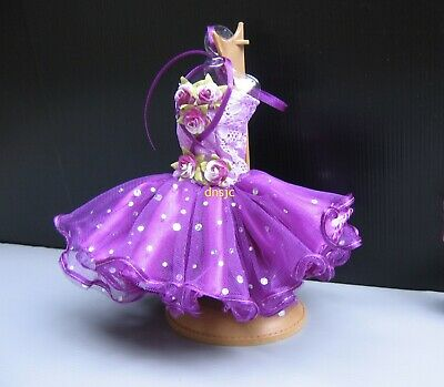 Casual Ballet dresses Purple Clothing Tutu Outfit Costume for Doll 12 inch Dress