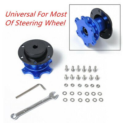 Universal Car Steering Wheel Quick Release Hub Adapter Snap Off Boss Kit Durable