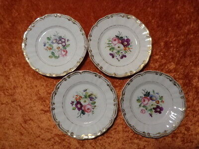 4 x Antique Pastry Plate/Decorative Plate Mit Handgemaltem Flower Bouquet KPM