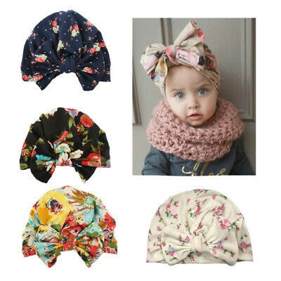 Cute Baby Boy Girl Hat Newborn Knot Bow Turban Headband Cap Girls Elastic Infant