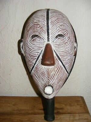 Wooden Hand Carved African Tribal Mask Decorative Ornamental Display