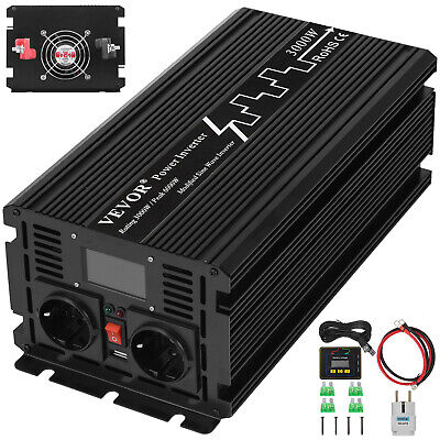 LCD Inverter di potenza sinusoidale modificato 3000W Built-In 24V 230V