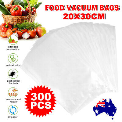 300X Vacuum Sealer Bags Precut Food Saver Heat Cool Cryovac Storage Bag 20X30cm