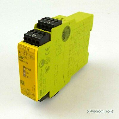 24v AC DC Pilz not-de-dispositivo de conmutación pnoz x3 774310 3n//o 1n//c 1so-not de relé