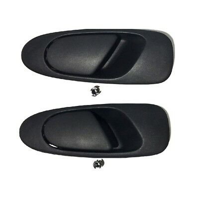 Pair x2 Rear Outer Door Handle Outside Exterior LH RH For 1992-1995 Honda Civic