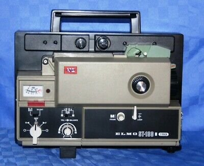 SUPER 8mm, 2 TRACK MAGNETIC SOUND MOVIE PROJECTOR, ELMO ST-180  SERVICED A1